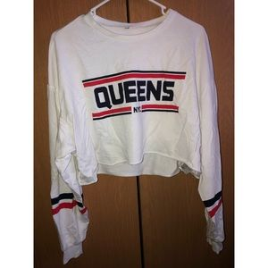 Queens nyc cropped sweater